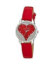 Designer Red Hearts Watch
