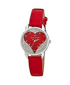 Laura Ashley Designer Red Hearts Watch