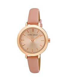 Ladies' Signature Case Analog Display Rose Gold Watch