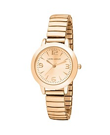 Rose Gold Stretch Bracelet Watch