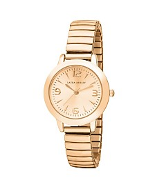 Laura Ashley Rose Gold Stretch Bracelet Watch