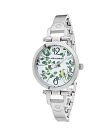 Thin Silver Metal Band Women's Designer Avery Garden Watch