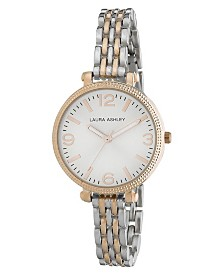 Laura Ashley Ladies' Two-tone Link Bracelet Watch