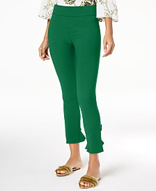 I.N.C. Ruffled-Hem Ankle Skinny Pants, Created for Macy's