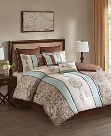 510 Design Laverna King Embroidered 8 Piece Comforter Set