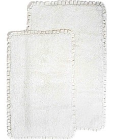 Verona 2 pc. Pleat Trim Bath Rug Set