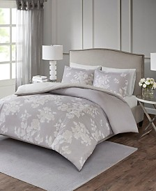 Madison Park Marian Full/Queen 3 Piece Cotton Printed Duvet Cover Set