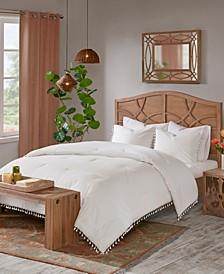 Lillian King/California King 3 Piece Cotton Comforter Set