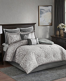Madison Park Odette Queen 8 Piece Jacquard Comforter Set