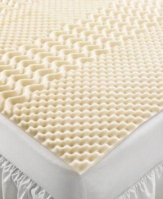 Home Design 5 Zone Memory Foam Mattress Toppers Mattress Pads