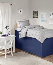 """Intelligent Design Extended Twin XL Drop 36"""" Dorm Bedskirt"""
