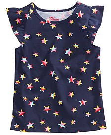 Epic Threads Little Girls Star-Print Flutter Top, Created for Macy's