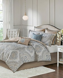 Madison Park Abella California King 8 Piece Chenille Jacquard Comforter Set