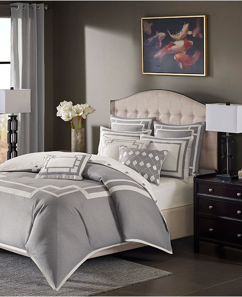 JLA Home Madison Park Signature Savoy Queen 8 Piece Comforter Set