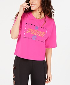 TZ Cotton Graphic Cropped T-Shirt