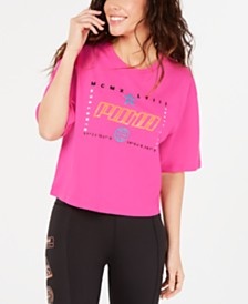 Puma TZ Cotton Graphic Cropped T-Shirt