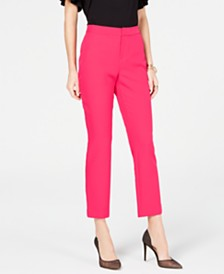 I.N.C. Straight-Leg Comfort-Waist Pants, Created for Macy's