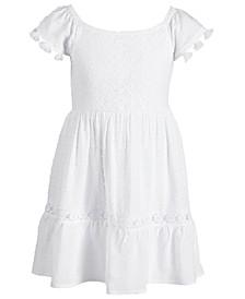 Toddler Girls Crochet Tassel-Trim Dress, Created for Macy's