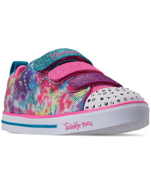 Little Girls' Twinkle Toes: Sparkle Lite Rainbow Brights Casual Sneakers from Finish Line