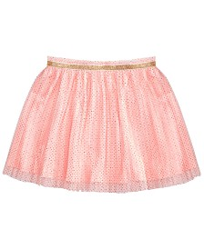 Epic Threads Little Girls Dot-Print Pleated Tulle Skirt, Created for Macy's