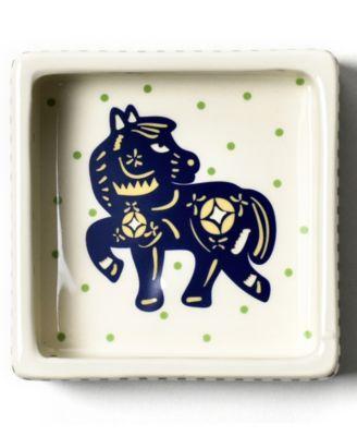 by Laura Johnson Chinese Zodiac Horse Square Trinket Bowl