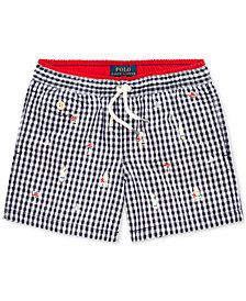 Polo Ralph Lauren Toddler Boys Gingham Swim Trunks