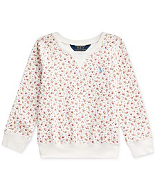 Polo Ralph Lauren Toddler Girls Floral-Print Mesh Pullover