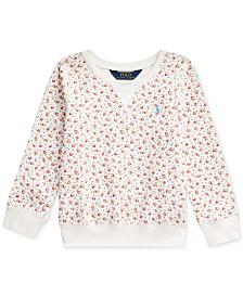 Polo Ralph Lauren Little Girls Floral-Print Mesh Pullover