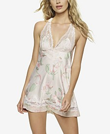 Women's Muse Satin and Lace Chemise