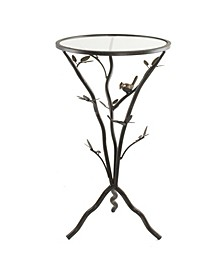 Bird and Branches Tripod Side Table