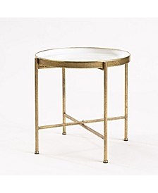 Large Gild Pop Up Tray Table - White