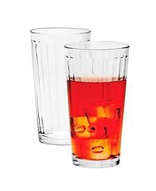 Optica 4 Piece 16.75 Ounce Cooler Glass Set