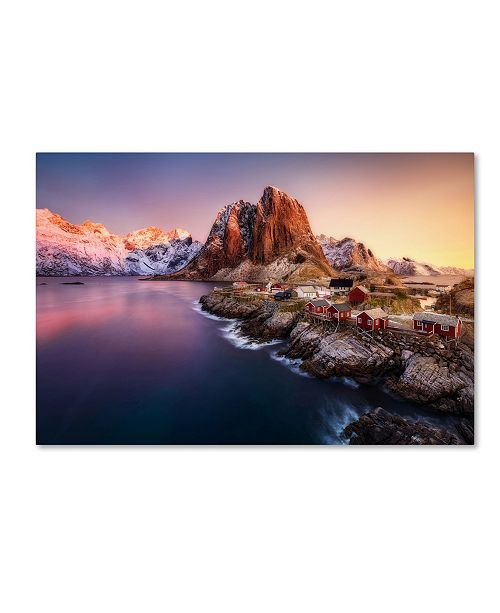 "Trademark Global Javier De La Torre 'Hamnoy Sunrise' Canvas Art - 24"" x 16"" x 2"""