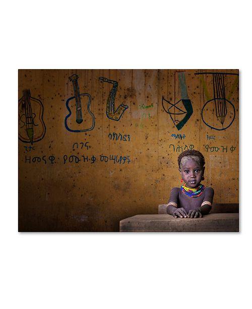"Trademark Global Mohammed Al Sulaili 'School' Canvas Art - 19"" x 14"" x 2"""