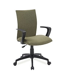 Home Sage Green Linen Apostrophe Office Chair