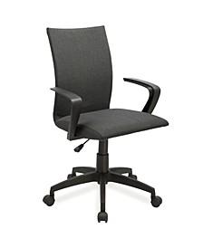 Home Black Linen Apostrophe Office Chair