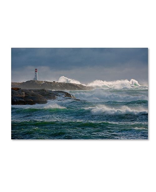 "Trademark Global Jamie Morrison 'In The Protection Of A Lighthouse' Canvas Art - 47"" x 30"" x 2"""