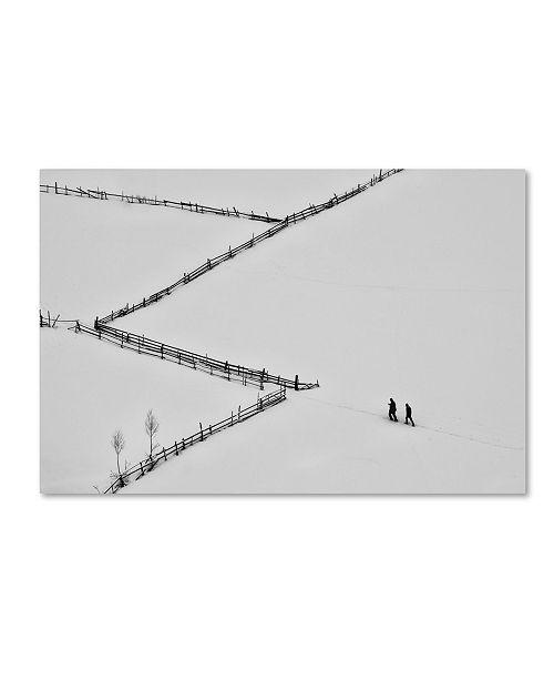 "Trademark Global Cristian Lee 'Entering Geometry' Canvas Art - 24"" x 16"" x 2"""