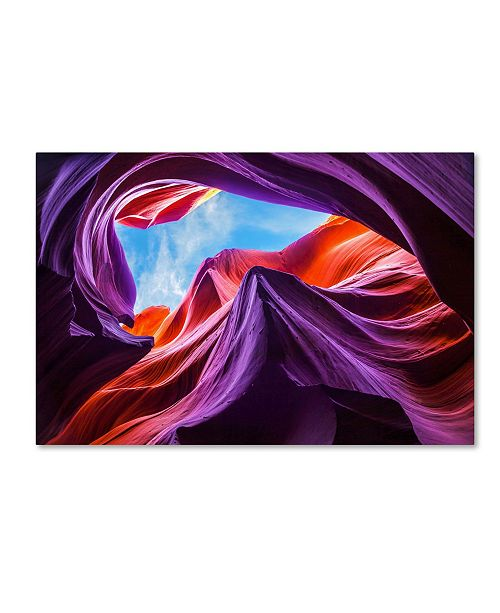 "Trademark Global Nanouk El Gamal 'Magical Lower Antelope Canyon' Canvas Art - 24"" x 16"" x 2"""