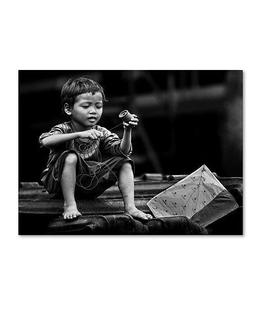 "Trademark Global Sebastian Kisworo 'Roll And Play It Again' Canvas Art - 19"" x 14"" x 2"""