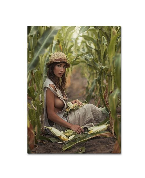 "Trademark Global David Dubnitskiy 'Farmer' Canvas Art - 47"" x 35"" x 2"""