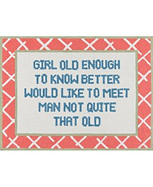 Get Smart More More More 3' x 4'  Indoor Square Area Rug