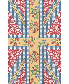 "Summer Garden Think Of  England Multi 3'6"" x 5'6"" Area Rug"