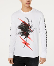 GUESS Men's Palm Lightning Graphic Shirt