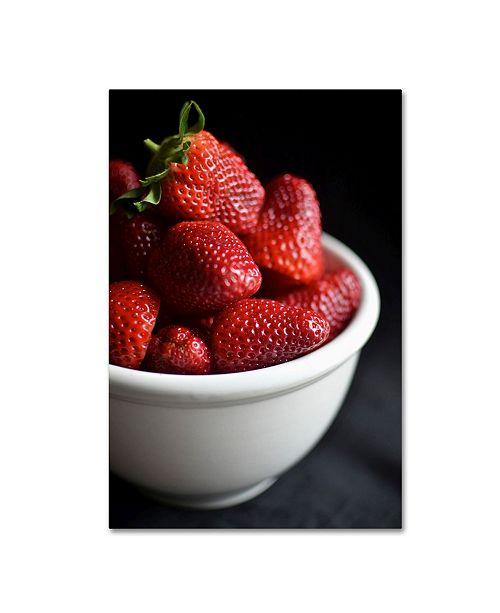 "Trademark Global Mike Melnotte 'Strawberry Still' Canvas Art - 24"" x 16"" x 2"""