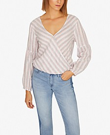 Sand Dune Striped Wrap Top