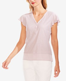 Vince Camuto Flutter Cap-Sleeve Top