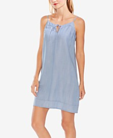 Vince Camuto Tie-Neck Sleeveless Shift Dress