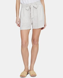 Sanctuary River Valley Striped Paper-Bag Shorts