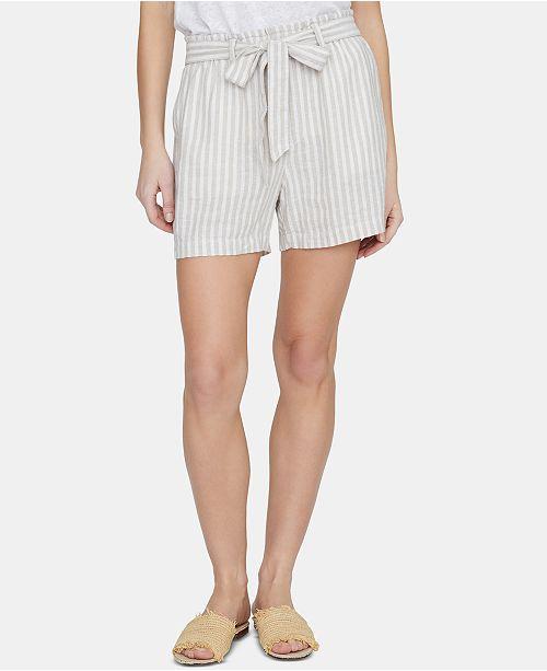 Sanctuary River Valley Striped Paper-Bag Shorts